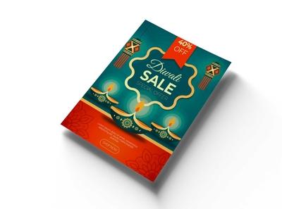 Free Diwali Flyer PSD Mockup