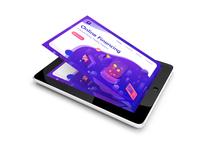 Free iPad UI PSD Mockup