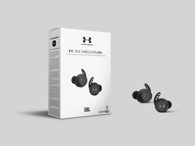 JBL Under True Wireless Box Packaging Mockup