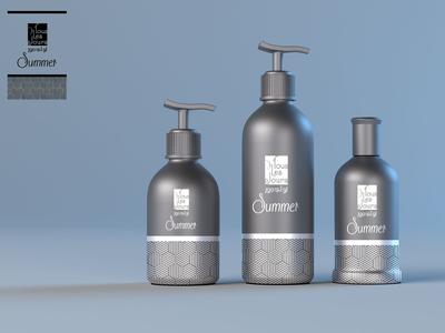 Free Summer Sunscreen Bottle Mockup