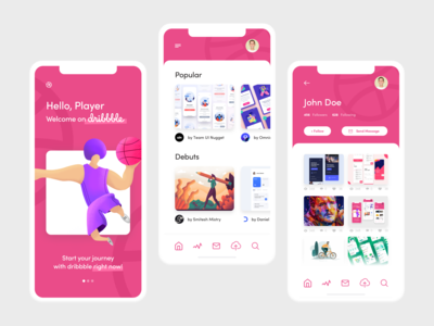 Dribbble Welcome Shot