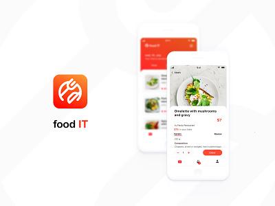 Food It App 160 120 icon typography light ux logo user inteface ui design concept app