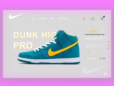 Nike Web Design Concept
