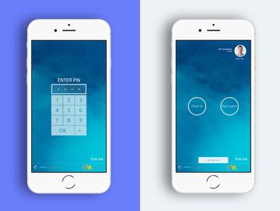 Time Punch App UI/UX Design