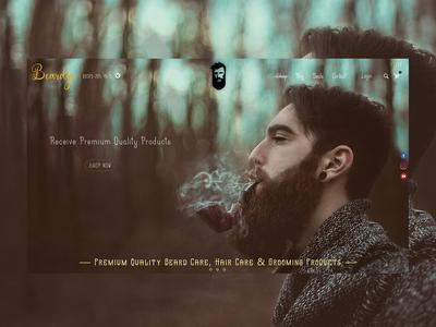 Web Design Concept / Beard Care