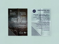 Farr Festival - Lineup Posters