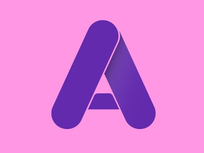 A(nother one) graphic design branding logo design purple shapes fat font shadow typography type a