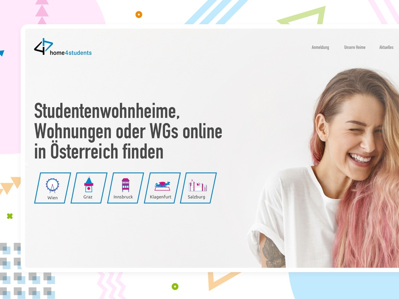 home4students vienna austria web design