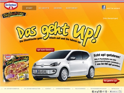 Website Design for Dr.Oetker webdesign ofernfrische html5 photoshop dr. oetker