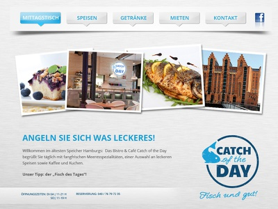 Catch of the Day Restaurant Website webdesign restaurant website microsite