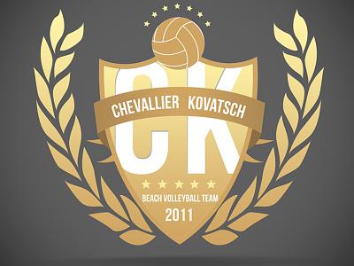 Logo for a beach volleyball team logo handball emblem illustrator vector beach volleyball logo