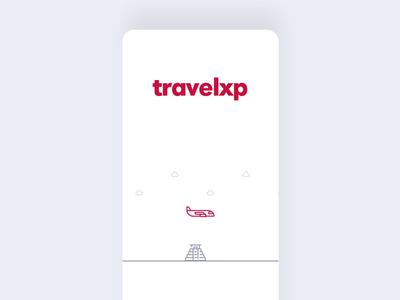 Travel App loader Animation. Client : Travelxp landing page web illustration branding design app graphics illustrations line art animation ui animation ui ux