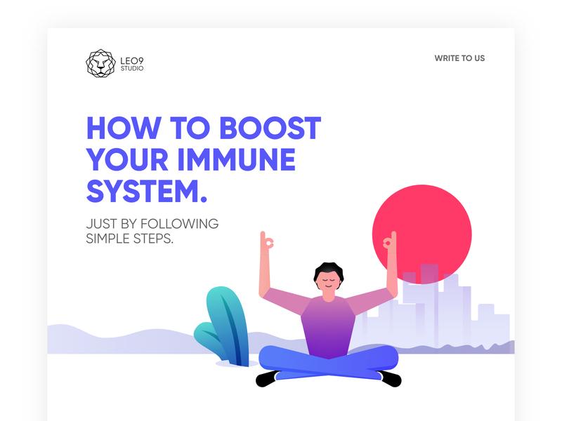 Immunesystem micro site coming soon branding design vector art illustration vector illustrations
