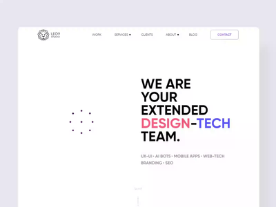 leo9 Studio web site design website design landing page ui aniamtion landing page web app typography graphics design branding illustrations vector art ui ux