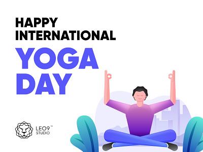Yoga Day Illustrations website minimal flat web branding vector art illustration ux ui vector design illustrations