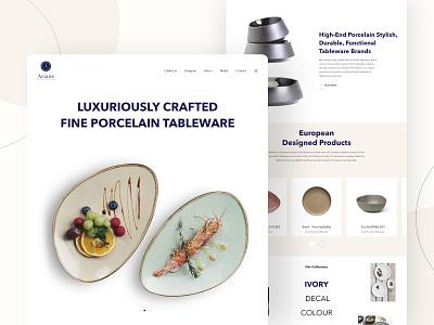 Ariane's UI UX Design by Leo9 Studio restaurant food luxury brand art craft user experience minimal clean luxury user interface design user interface userinterface web design ui ux
