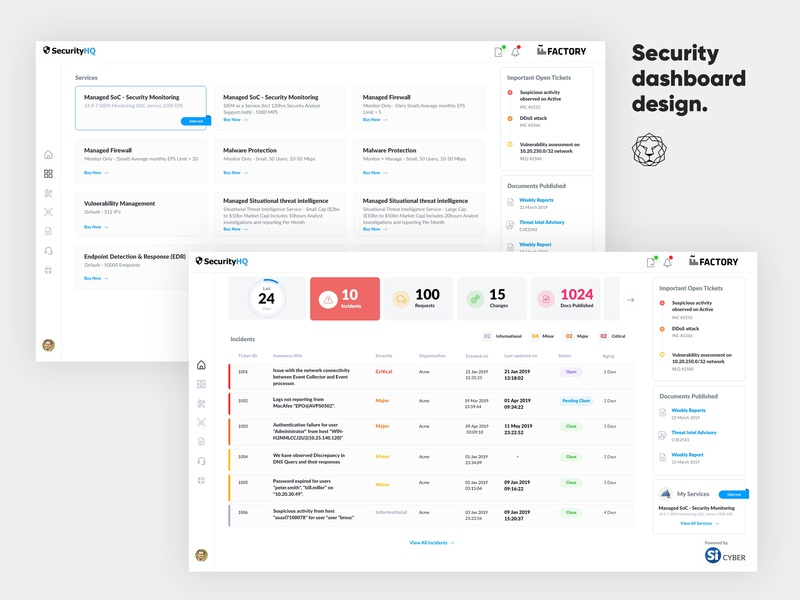 Security Dashboard By Leo9 Studio On Dribbble