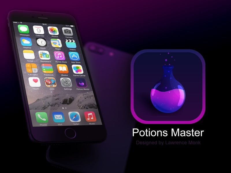 Daily UI: Day Five - App Icon illustration ui mobile design ios potions dailyui 005 dailyui branding logo app icon icon app app branding