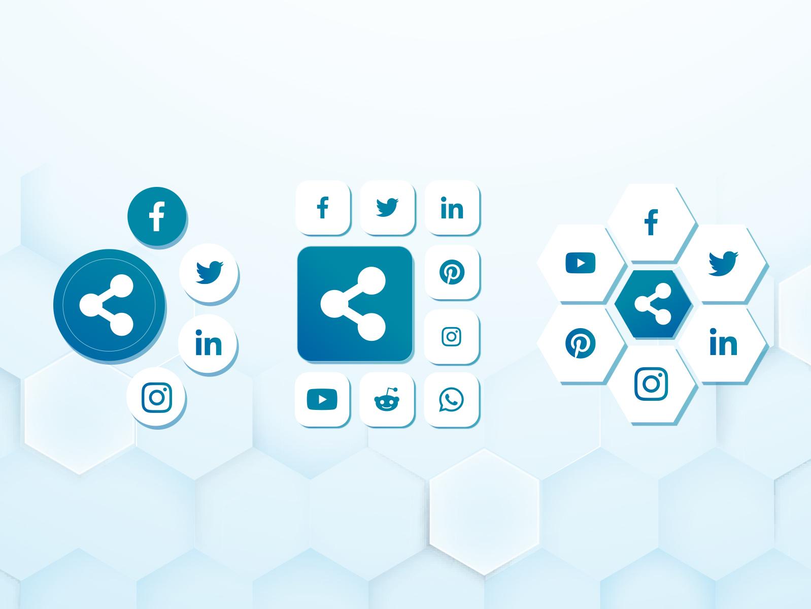 Daily UI: Day Ten - Social Share share button social buttons dailyui 10 dailyui share social share social
