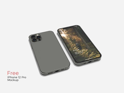 Free IPhone 12 Pro Mockup iphone 12 mockup phone mockup smartphone device mockup screen app mockup iphone