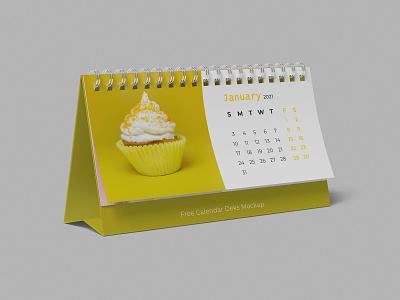 Free Calendar Desk Mockup horizontal calendar event desk calendar 2021 desk day date calendar mockup calendar
