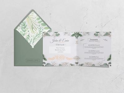 Square Invitation / Greeting Card Mock-Up