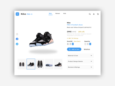 Product Details page for E-Commerce Site