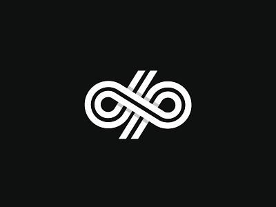 D+P LogoMark freelancer logomark modern logo design abstract logo 3dlogo minimal logo vector black logos logotype logo design logo