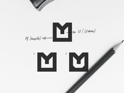U+M Urban Muscle Negative Space Logo