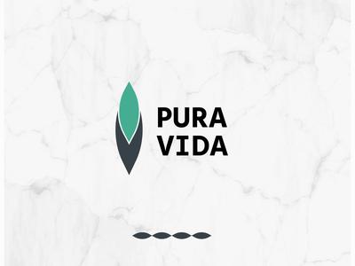 Pura Vida   Logo design healthy logotype cannabis design cannabis logo cannabis canabis green logo green natural logo branding logo design