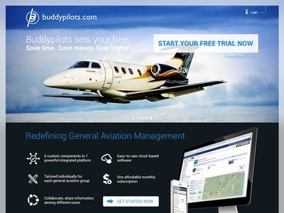 Buddypilots.com commercial website webdesign aviation air airplaine application
