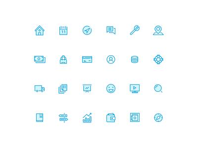 Dualtone Icon Set illustration search icon truck icon profile icon bag icon money icon calendar icon pin icon wallet icon money crisp icons