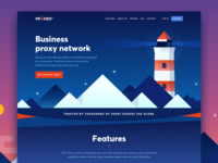 Landing page for a Proxy service