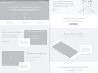 Equilibrium Landing page - Wireframes