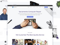 Landing page for a Repair Service