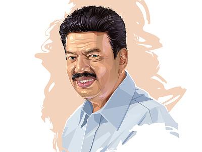 Meeran illustrator portrait vector