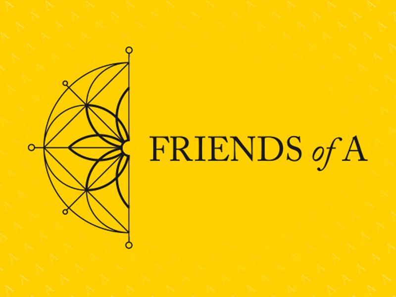 Friendsofa logo design branding identity