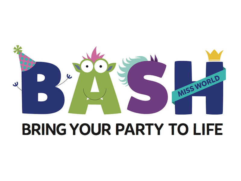 Dribblebash1 kids children logo branding design bash monsters fun
