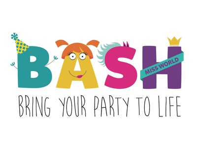 Dribblebash2 kids children logo branding design bash monsters fun