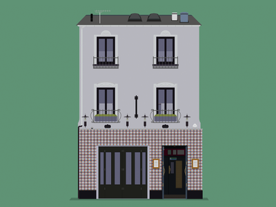 Spaniard bar belfast design illustration pub spaniard spanish tiles building flat