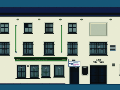 Whites Tavern, Belfast white building drink beer flat ireland ni belfast bar pub illustration design