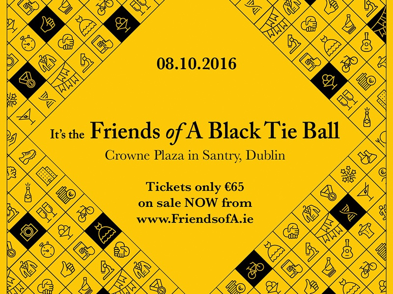 Friends Of A Ball 2016 illustration typography material promotional poster leaflet flyer design