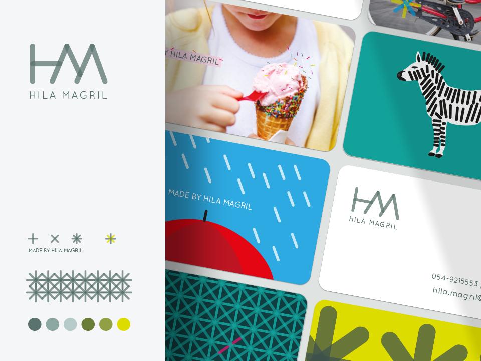 Hila Magril logo business card illustraion branding design