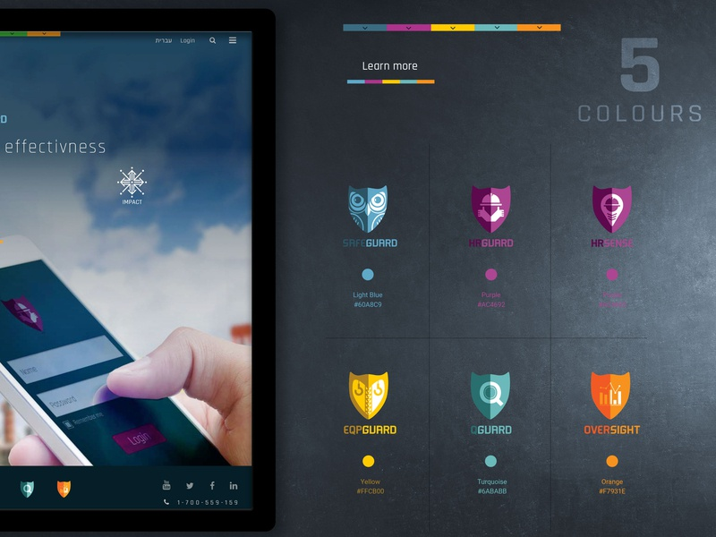 Safeguard Website Assets corporate identity colour combination icons design ux  ui branding web design