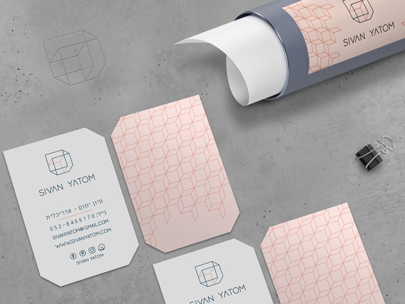 Sivan Yatom Branding business cards branding typogaphy logotype logo