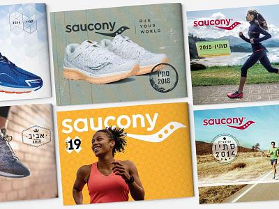 Saucony Israel catalogue design catalogue design print design