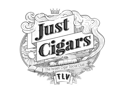 Just Cigars Logo and Branding