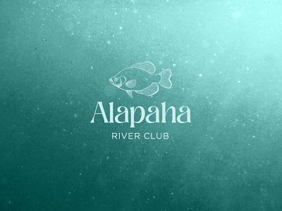 Alpaha River Club Fish Logo marine teal turqoise blue aqua fish logo design logo branding