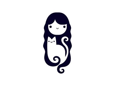 Meow there Dribbble! Tamar Ziri - Logo cat design illustration flat vector branding logo