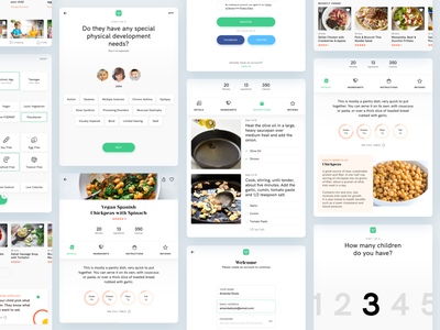 Tablet Recipe App Exploration user experience user interface minimal food cooking experience interface ux ui tablet app recipe tablet design ios